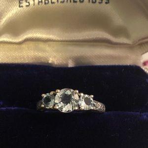 Vintage Sterling 925 UTC CZ engagement ring